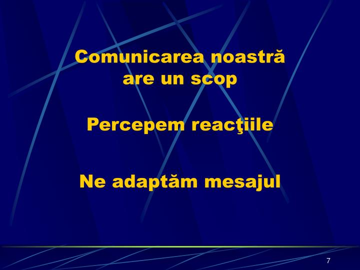 Comunicarea noastră