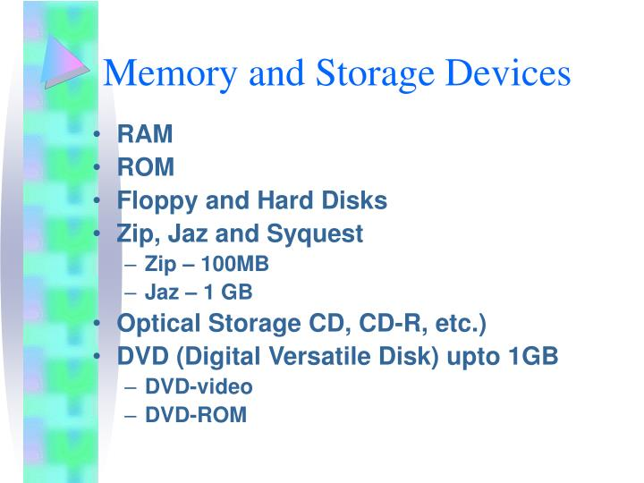 Memory and Storage Devices