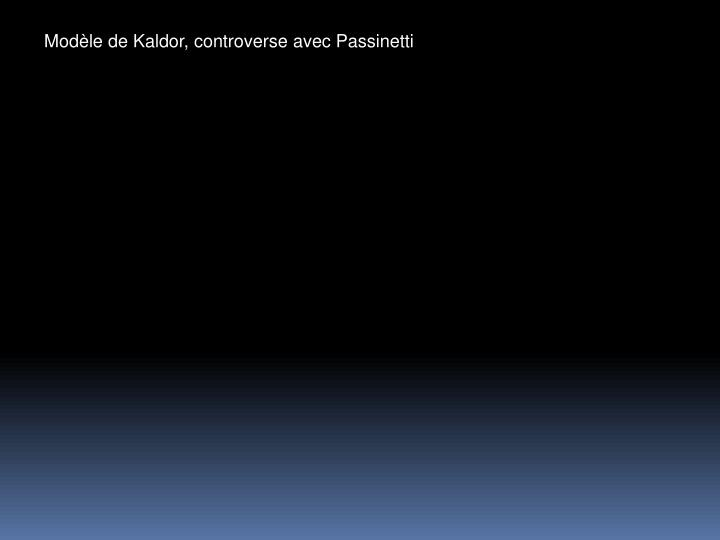 Modle de Kaldor, controverse avec Passinetti