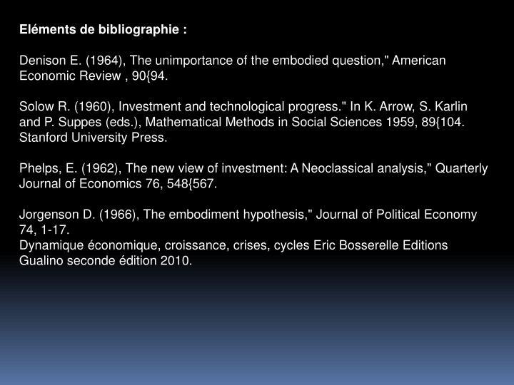 Elments de bibliographie :