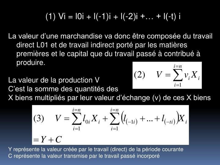 Vi = l0i + l(-1)i + l(-2)i + + l(-t) i