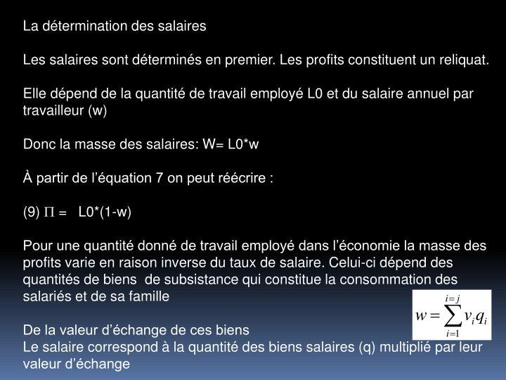 La dtermination des salaires