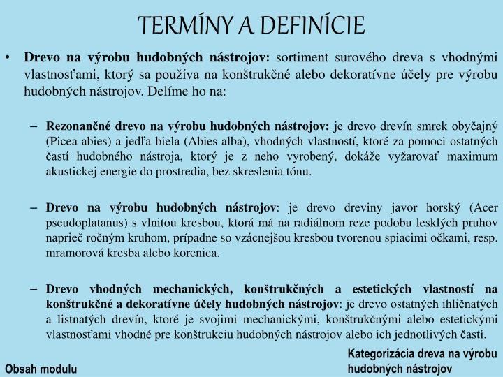 TERMÍNY A DEFINÍCIE