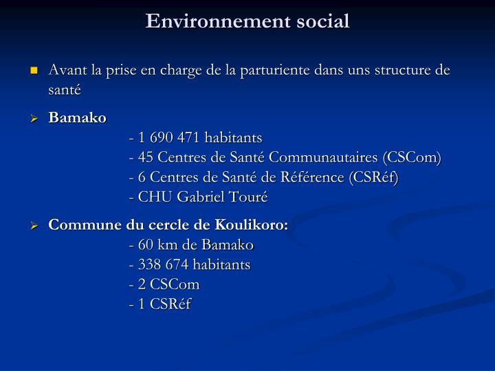Environnement social