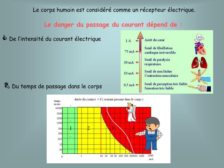 Le corps humain est considéré comme un récepteur électrique.