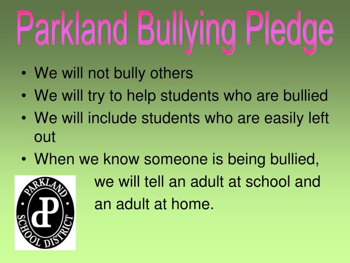 Parkland Bullying Pledge