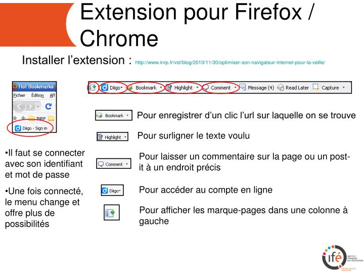 Extension pour Firefox / Chrome