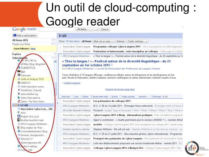 Un outil de cloud-computing :