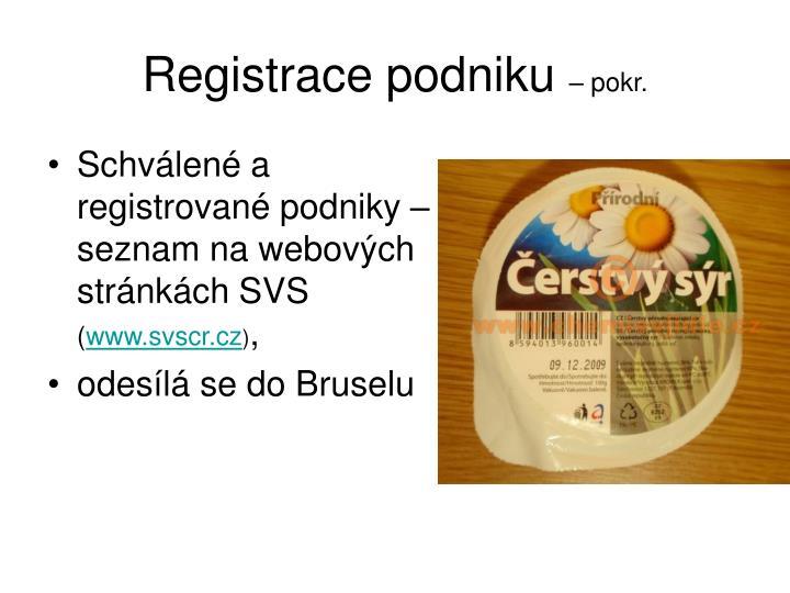 Registrace podniku