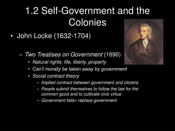 1.2 Self-Government and the Colonies