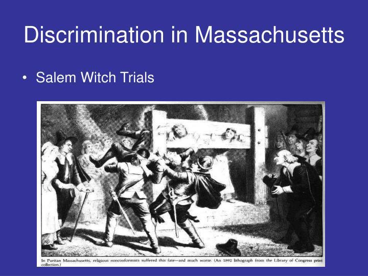 Discrimination in Massachusetts