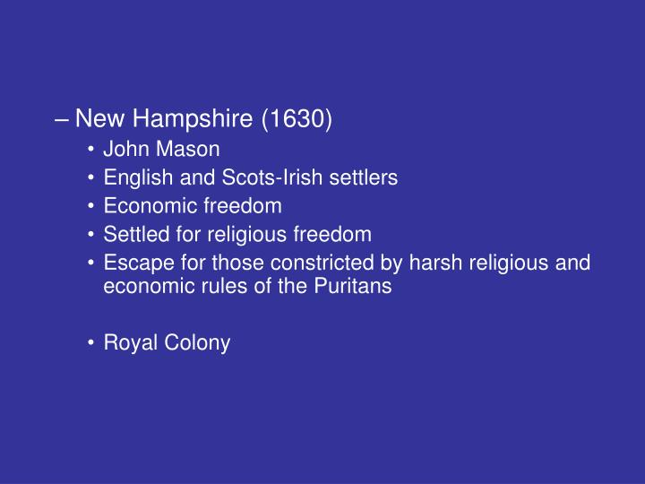 New Hampshire (1630)