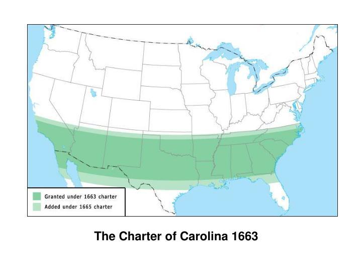 The Charter of Carolina 1663