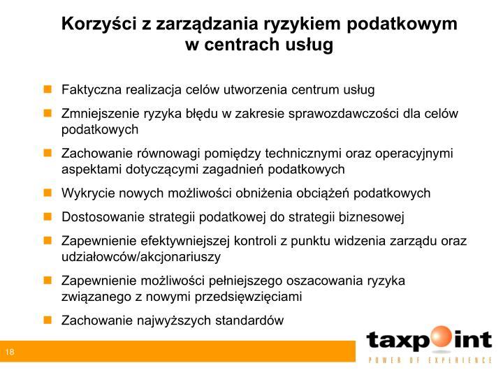 Korzyści z zarządzania ryzykiem podatkowym