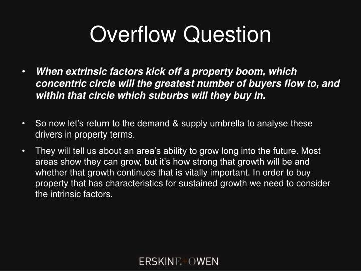 Overflow Question