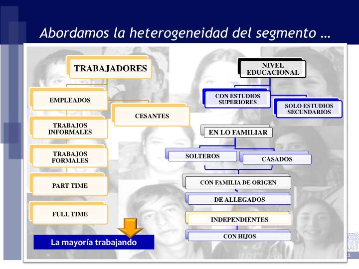 Abordamos la heterogeneidad del segmento …