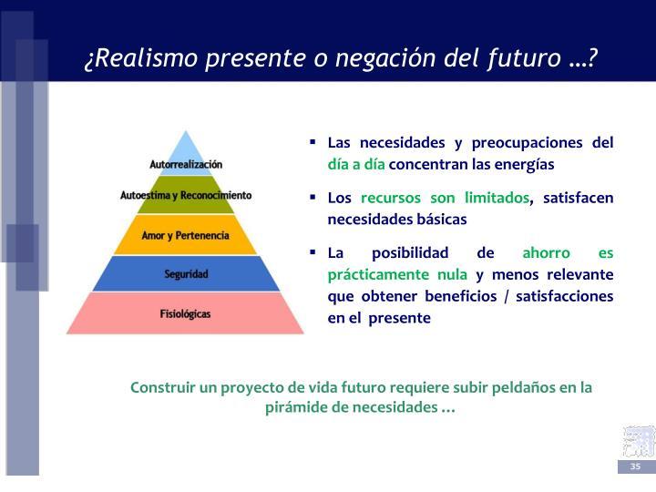 ¿Realismo presente o negación del futuro …?