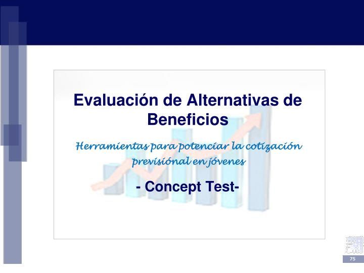 Evaluación de Alternativas de Beneficios