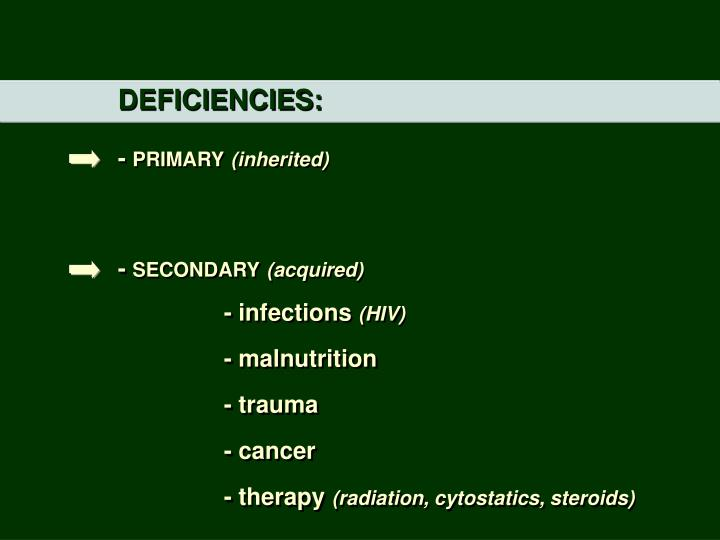 DEFICIENCIES:
