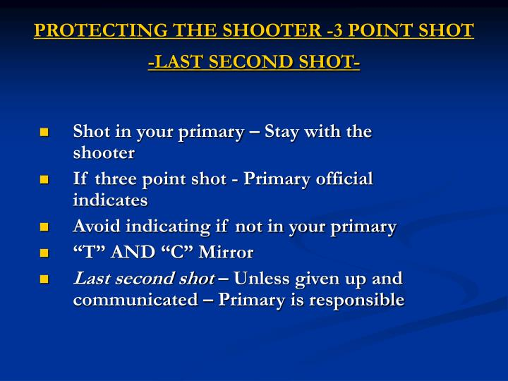 PROTECTING THE SHOOTER -3 POINT SHOT -LAST SECOND SHOT-