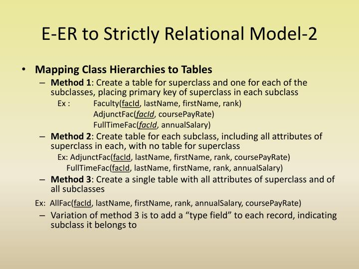 E-ER to Strictly Relational Model-2