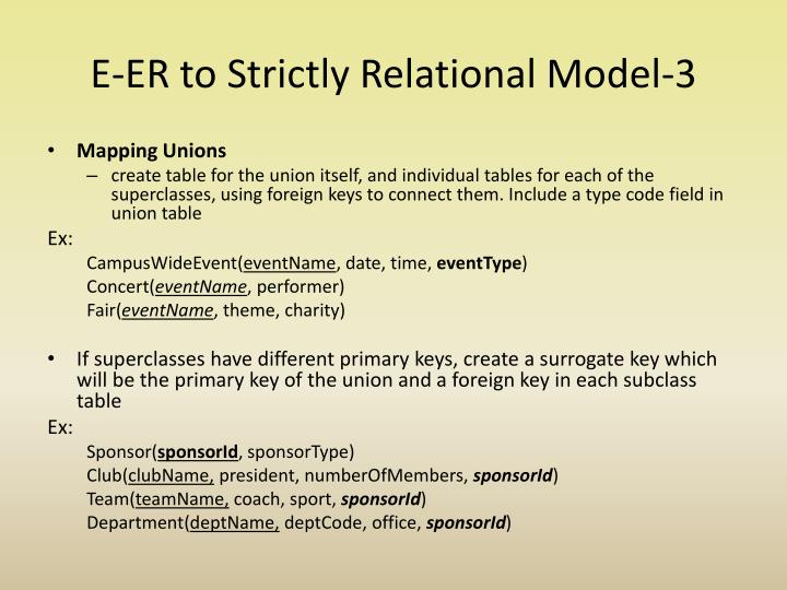 E-ER to Strictly Relational Model-3