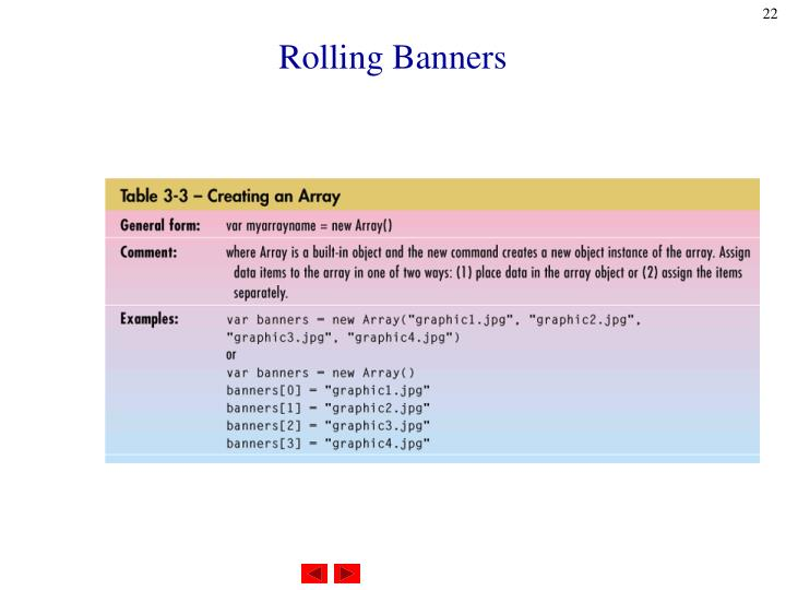 Rolling Banners