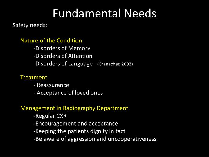 Fundamental Needs