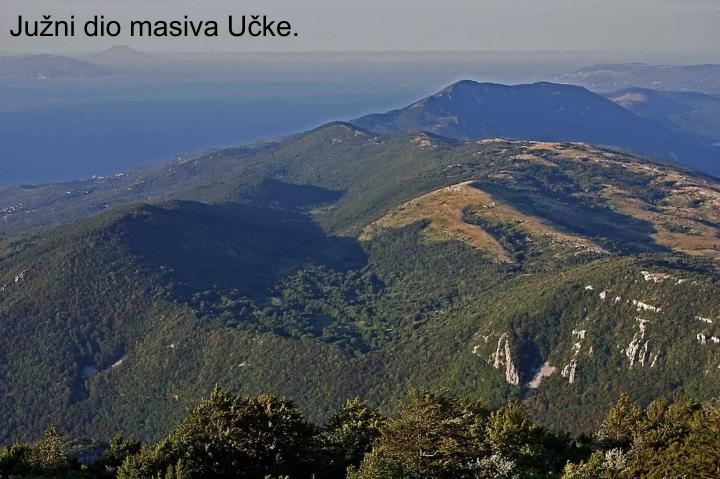 Južni dio masiva Učke.