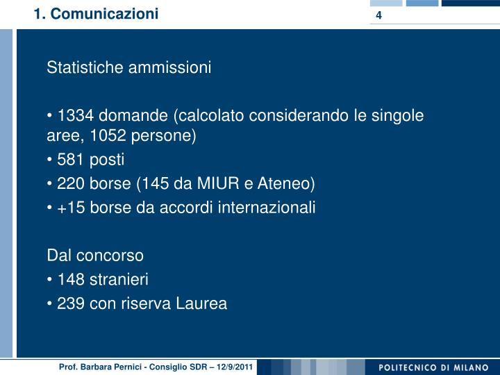 1. Comunicazioni
