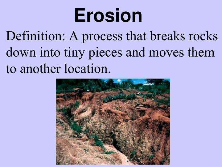 Ppt physical processes mrs walker 4 th grade for Soil erosion definition