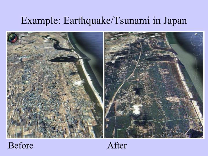 Example: Earthquake/Tsunami in Japan