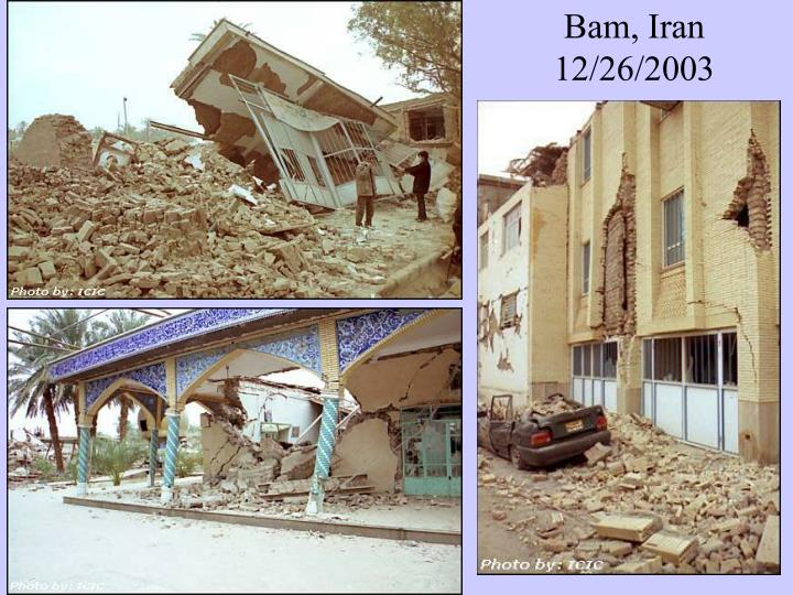 Bam, Iran 12/26/2003