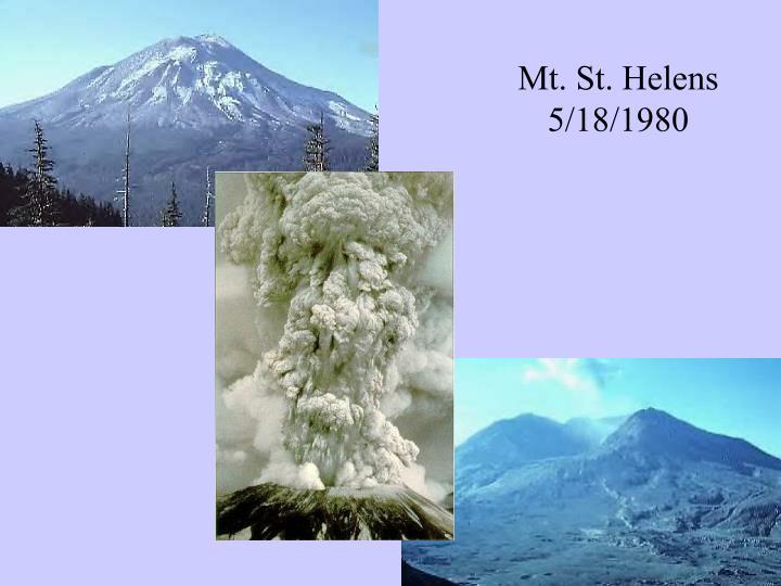 Mt. St. Helens 5/18/1980