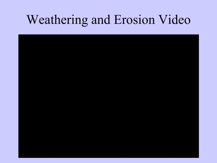 Weathering and Erosion Video