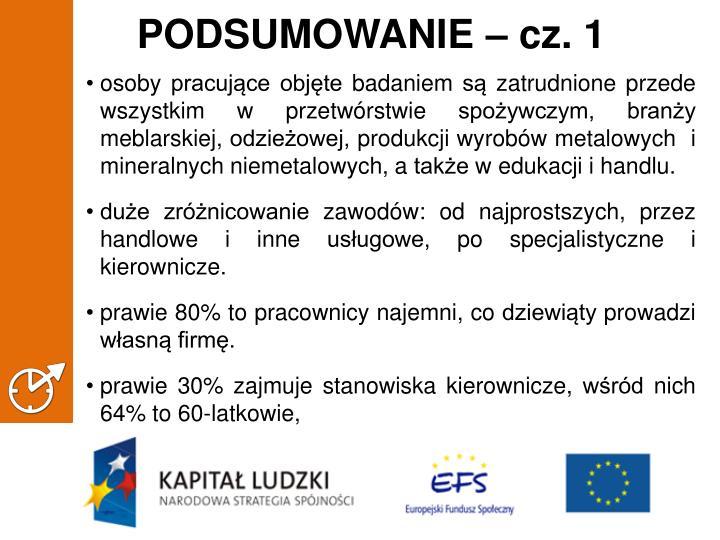 PODSUMOWANIE – cz. 1