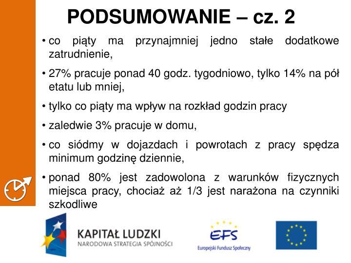 PODSUMOWANIE – cz. 2