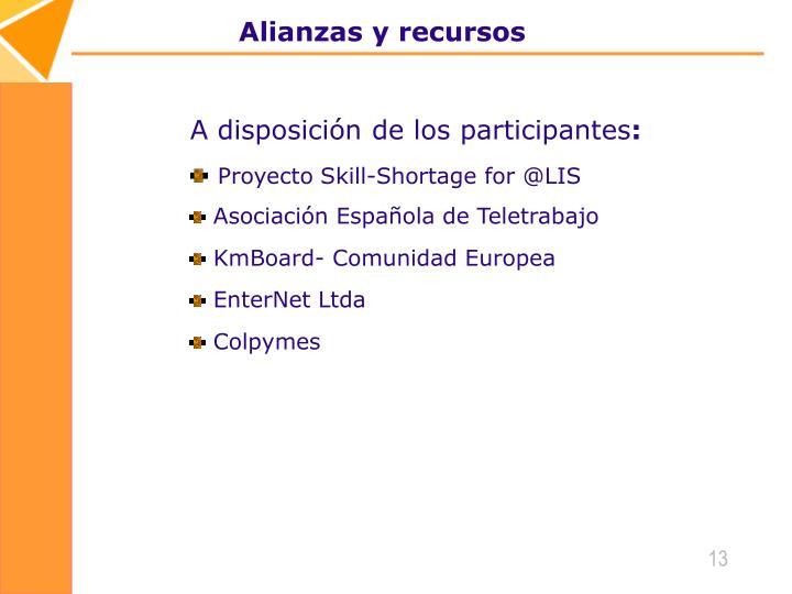 Alianzas y recursos