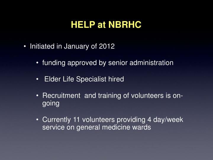 HELP at NBRHC