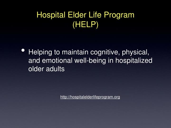 Hospital Elder Life Program