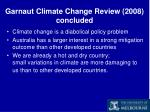 garnaut climate change review 2008 concluded