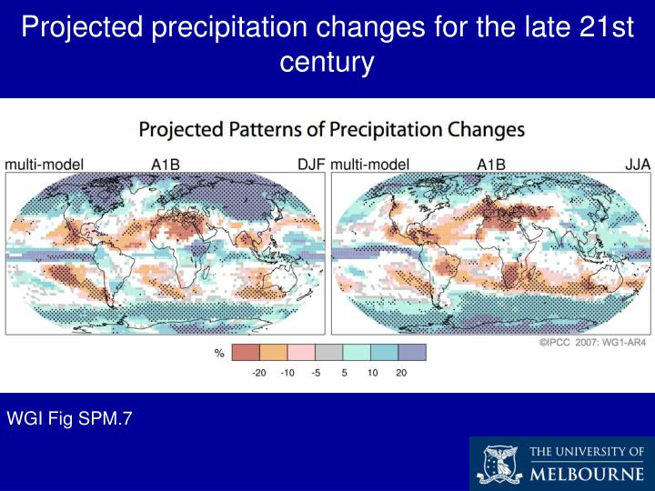 Projected precipitation changes for the late 21st century