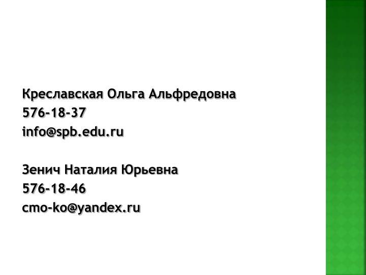Креславская Ольга Альфредовна