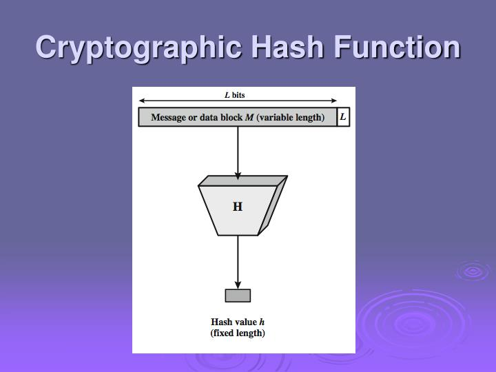 Cryptographic Hash Function