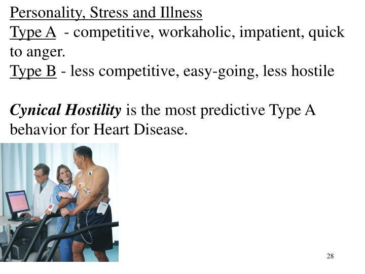 Personality, Stress and Illness