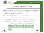 3 cr ation des services libres