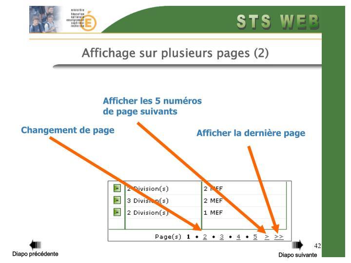 Affichage sur plusieurs pages (2)
