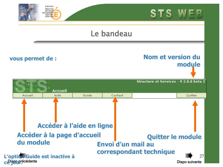 Nom et version du module