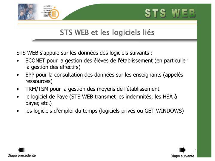 STS WEB et les logiciels liés