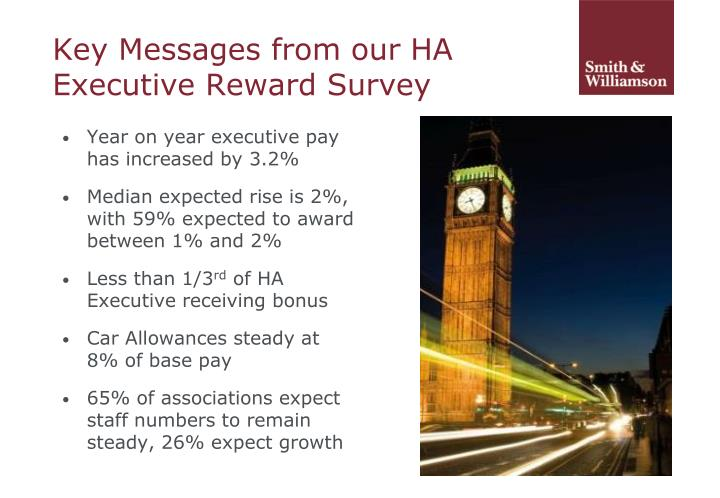 Key Messages from our HA Executive Reward Survey